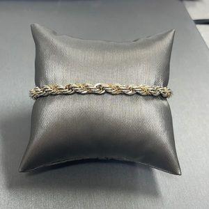 Tiffany & Co 14k & Sterling Twisted Rope Bracelet